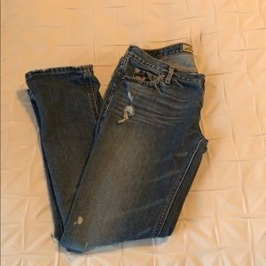 Hollister low rise cropped jeans size 1